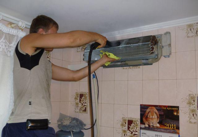 Чистка сплита в домашних условиях